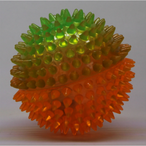 Spikey light up squeaky ball – 8.5cm
